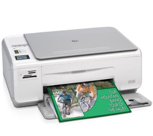 HP Photosmart C4280 All-in-One Multifunktionsgerät (Farb) Tintenstrahlkopie (bis zu): 30 ppm (Mono) / 23 ppm (Farbe) Druck (bis zu): 30 ppm (Mono) / 23 ppm (Farbe) 100 Blatt USB