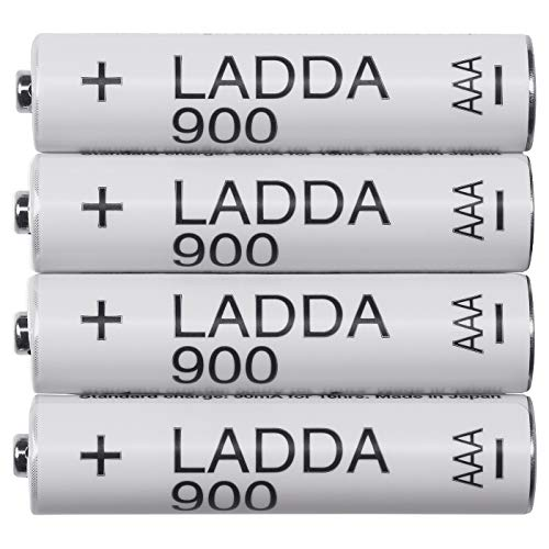 LADDA - Pilas recargables (900, HR03 AAA 1,2 V, 4 unidades)