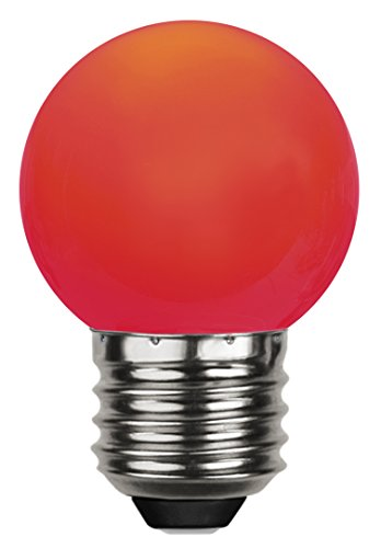 Tecstar Star Décoration de Jardin, LED Decoration, E 27, Polycarbonate, Rouge, 4,5 x 4,5 x 6,8 cm, 336–45–1