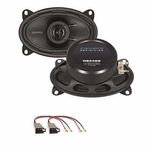 Crunch DSX462 2 Wege Koaxial Lautsprechersystem Einbauset für die vorderen...