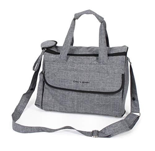 CHIC 4 BABY 415 34 Wickeltasche Komfort, Jeans grey, grau
