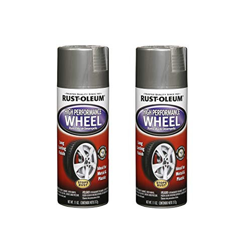 Rust-Oleum 248927A2 High Performance Wheel Spray Paint, 2 Pack, Steel, 2 Count