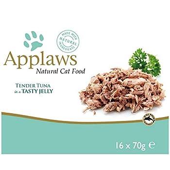 Applaws Nourriture naturelle pour chat Thon en Gelée - 16 x 70 g