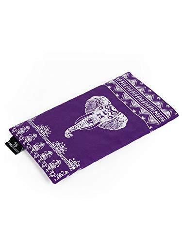 Yoga Studio Organic Eye Pillow - 23cm x 12/13cm, Organic Lavender & Linseed Scented Yoga...