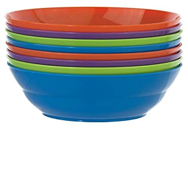 Sonoma 28-ounce Plastic Cereal/Soup Bowls | set of 8 in 4 Assorted Colors