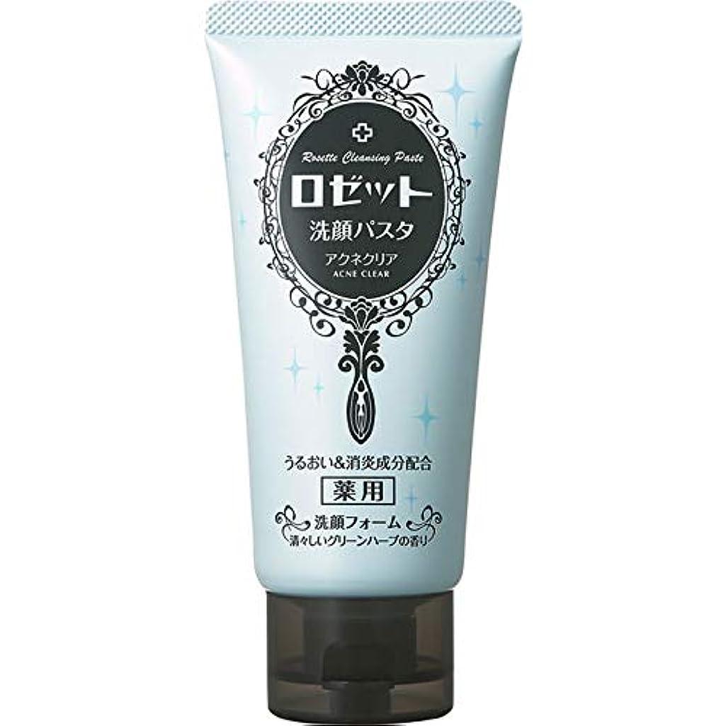 ゲートパイプ提出するロゼット ロゼット洗顔パスタ アクネクリア 120g (医薬部外品)