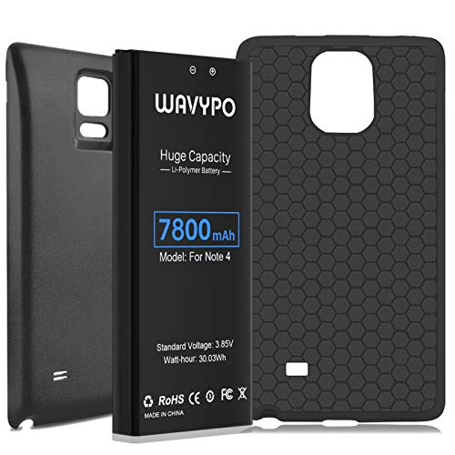 Wavypo 7800mAh Battery Replacement for Samsung Galaxy Note 4 N910/ N910 UTE/ N910A/ N910T N910 Verizon/ N910P Spare Battery