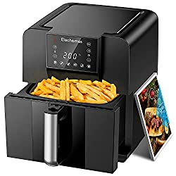 40%OFF Elechomes AG61B Air Fryer, Max XL 6.3 Quart Oilless Electric Oven with Free 120 Recipes Book