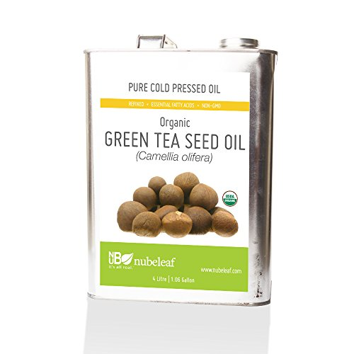 Nubeleaf Green Tea Seed Oil (Camellia Oil) - Non-GMO, Gluten-Free, Organic, Vegan - Single-Ingredient Nutrient Rich Functional Oil for Cooking & Skincare (1 Gallon)