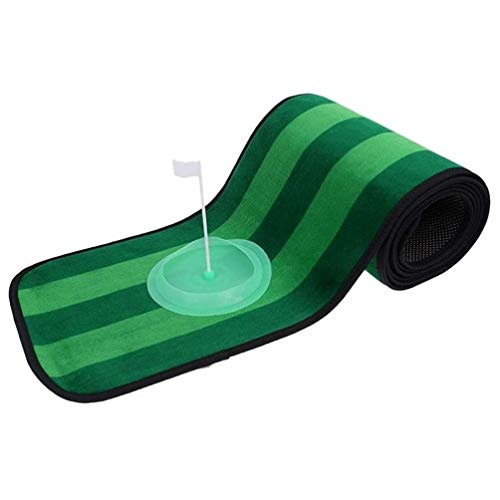 Zfggd Indoor Outdoor Golf Putting Mat Exercise Putting Cup and Flag Anti-Slip at Bottom Extra Practice Time House Easy to Store and Carry