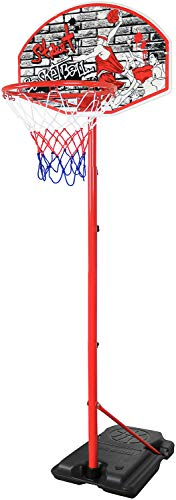 Youth Basketball Hoop for Kids Indoor and Outdoor Stand 8.7' Portable and Adjustable Height