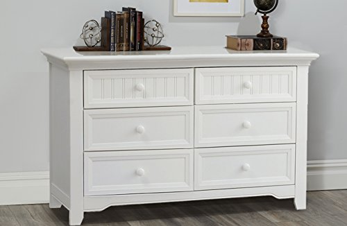 Suite Bebe Winchester 6 Drawer Double Dresser White