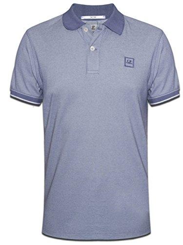 C.P. Company Mens lilas contraste Polo Shirt Large