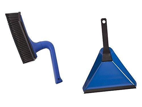 V7 Set Handfeger und Kehrschaufel blau Kehrset