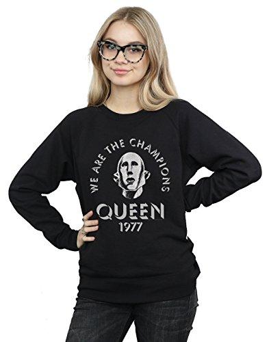 Absolute Cult Queen Mujer We Are The Champions Camisa De Entrenamiento Negro Medium
