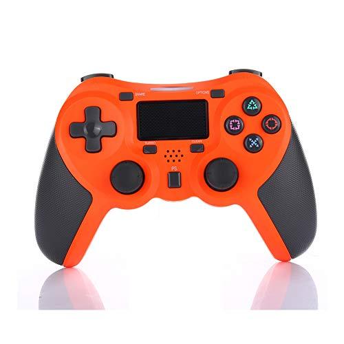 VAWA Controlador de Juegos inalámbrico-Controlador Gamepad Bluetooth 4.0 Cargador rápido Doble con Pantalla LED para Playstation 4 / PS4 Slim / PS4 Pro Controller Gamepad-Orange