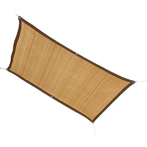 ALGFree Toldo Vela De Sombra Toldo Parasol Cubierta De Tela Transpirable Permeable Toldo Rectangular contra Los Rayos UV del,22 Tallas (Color : Beige, Size : 1×1m)