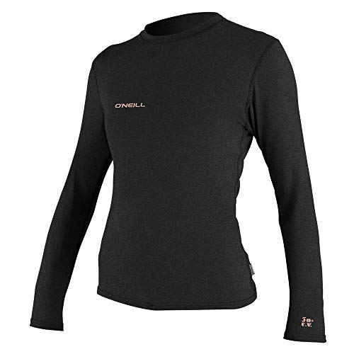 O'Neill Women's Hybrid UPF 50+ Long Sleeve Sun Shirt, Black, XL