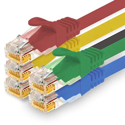 1CONN - 1,5m Netzwerkkabel, Ethernet, LAN & Patchkabel für maximale Internet Geschwindigkeit & verbindet alle Geräte mit RJ 45 Buchse 5 Farben 01