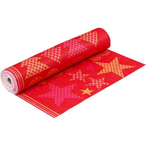 Packlinq Motiv-Filz, Orange, Rot, B: 45 cm, 1,5 mm, 180-200 g, 5 m, 1 Rolle [HOB-45269]