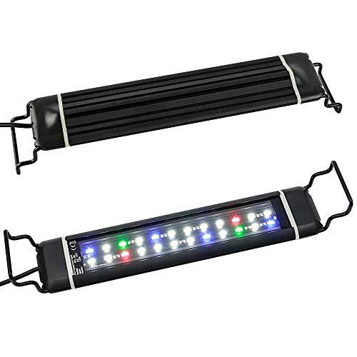 Szbritelight 水槽ライト アクアリウムライト LED 熱帯魚ライト 水槽照明 12W 24LED 2つの照明モード スライド式 30CM 40CM 45CM水槽対応 水草育成 熱帯魚 観賞魚飼育 などに適しています(28~46CM)