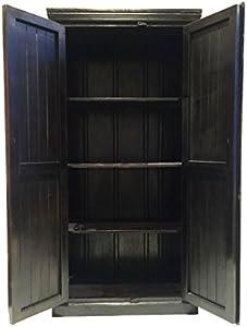 Marrakech Accessoires–Grande–Armario ropero Simba 180cm de Alto, marroquí Vintage Vestíbulo Armario Estrecho | Marrakesch Armarios de Madera Maciza para el Piso, Dormitorio, Salón o Baño