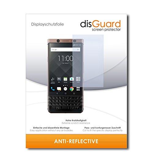 disGuard® Bildschirmschutzfolie [Anti-Reflex] kompatibel mit BlackBerry KeyOne Bronze Edition [2 Stück] Entspiegelnd, Matt, Antireflektierend, Extrem Kratzfest, Anti-Fingerabdruck - Schutzfolie