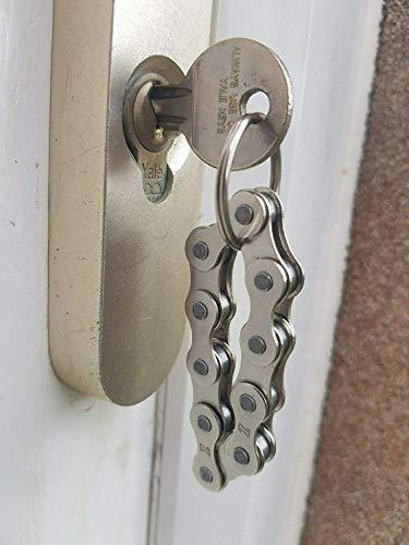 Pumpkiin Prints HANDGEMACHTE Fahrrad Fahrrad Kette Schlüsselanhänger - Geschenke für Radfahrer - Fidget Keyring (Gold)