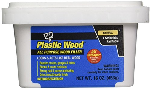 Read About Dap 00529 6 Pack 16 oz. Plastic Wood Latex All-Purpose Wood Filler, Natural