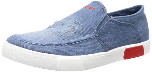Sparx Men S. Blue White Loafers-6 UK (SD0448G_SBWH0006)