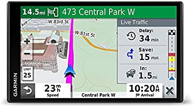 """Garmin DriveSmart 65, Built-In Voice-Controlled GPS Navigator with 6.95"""" High-Res Display"""