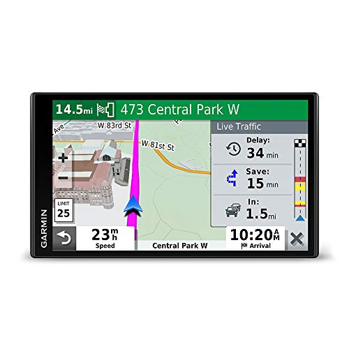 "Garmin DriveSmart 65, Built-In Voice-Controlled GPS Navigator with 6.95"" High-Res Display"