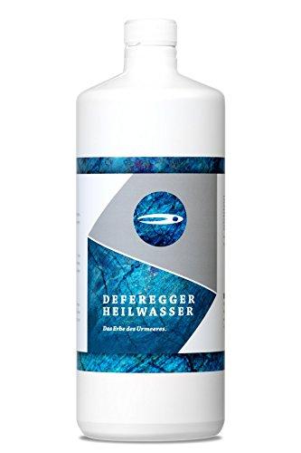 Nachfüllflasche 1000ml - Hautpflege und Hautschutz bei trockener, juckender, schuppiger, geröteter Haut - ohne Cortison - 100% natürliches Deferegger Heilwasser - mit vielen wertvollen Mineralstoffen