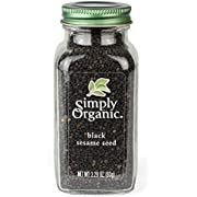 Simply Organic Whole Black Sesame Seed, Certified Organic | 3.28 oz | Sesamum indicum