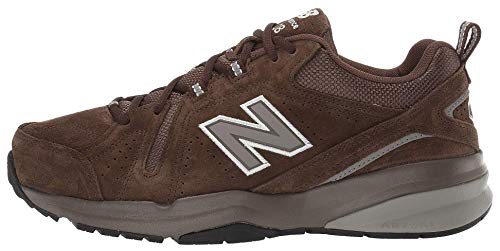 New Balance Men's 608 V5 Casual Comfort Cross Trainer, Chocolate Brown/White, 10.5 W US