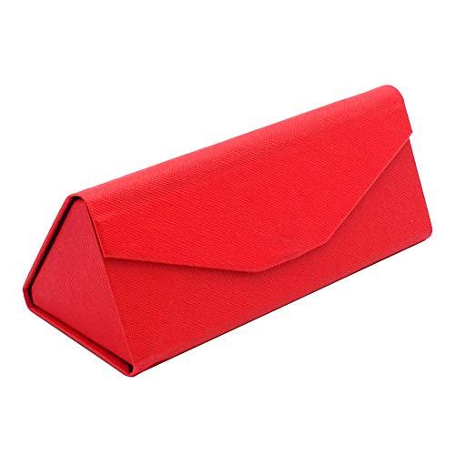 Dandeliondeme Dandeliondeme Brillenetui, wasserdichtes Dreieck faltbare Sonnenbrillen Tasche Schutzbrillen Tasche mit Clip für Männer und Frauen Red