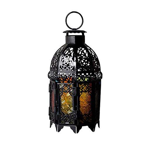 C/H Linterna marroquí portavelas Colgantes lámpara de té de luz de Caballo Decorativa Linterna Viento para el hogar Patio balcón jardín decoración de la Boda Regalo