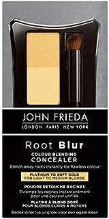 [John Frieda ] 柔らかい金の90グラムにジョン?フリーダルートぼかしカラーブレンドコンシーラープラチナ - John Frieda Root Blur Colour Blending Concealer Platinum to Soft Gold 90g [並行輸入品]