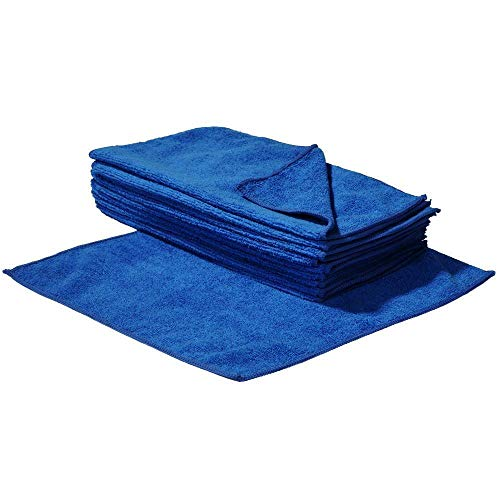 S&S-Shop - Paños de microfibra (100 unidades, 30 x 30 cm), color azul