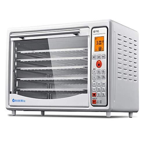 Frukttork matbevaringsmaskin, frukttork och matbakningslåda, multifunktions temperaturkontroll kan ställa in tid 5 lager rostfritt stål bricka vegetabilisk svamp uttorkning och kyckling W
