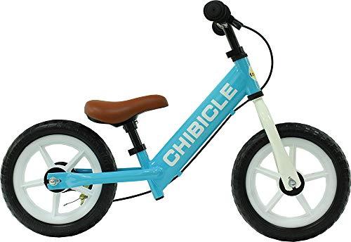 バランス感覚育成用バイク 12インチ キックバイク ペダル無し自転車 ブレーキ付き ランニングバイク CHIBICLE12-LB ライトブルー