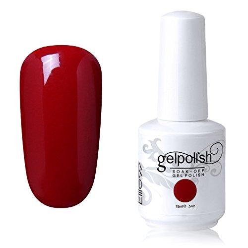 Elite99 Soak-Off Gel Polish Lacquer Nail Art UV LED Manicure Varnish 15ml Blood Red 1337