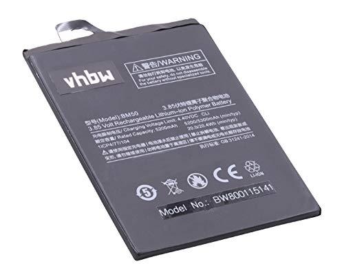 vhbw Li-Polymer Akku 5300mAh (3.85V) passend für Handy Smartphone Handy Xiaomi Mi Max 2, Max 2 Dual SIM, MDE40
