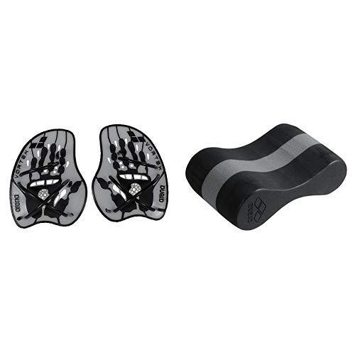 arena Unisex Schwimm Wettkampf Trainingshilfe Hand & arena Unisex Pullbuoy/Schwimmbrett Freeflow Pullbouy zur Verbesserung der Wasserlage und Körperhaltung, Black-Grey (51), One Size