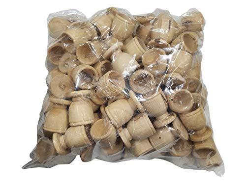 Bethlehem Gifts TM handgefertigt aus Bethlehem Olivenholz, Souvenir für die Erstkommunion. Set mit 100 Tassen, 3,8 cm.