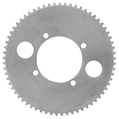 Piñón de cadena trasero para scooter Piñón de cadena duradero de aluminio, para cadenas 25H, para scooter eléctrico((65-tooth crankset/25H model))