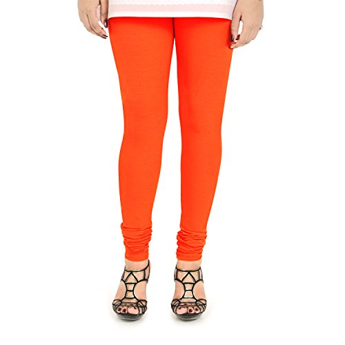 Vami Women's Leggings (VM1001_84_Jealous Orange_Free Size)