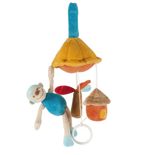 Nattou Mini Mobile Singe Bleu