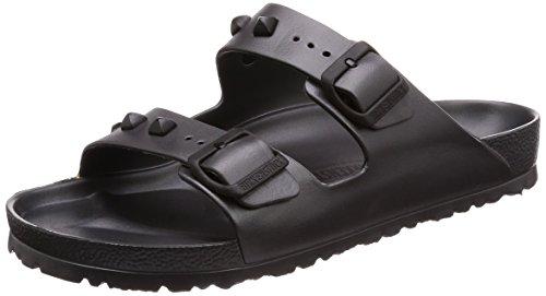 BIRKENSTOCK Damenschuhe Arizona Eva Stud aus Eva, Badeschuh, mit softem Fußbett, Grau (Anthracite), EU 45, Normal
