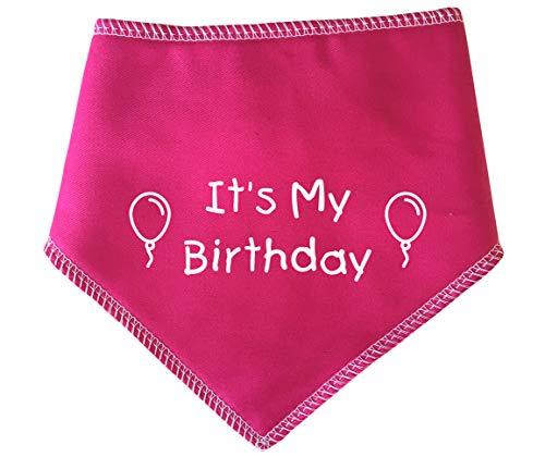 Spoilt Rotten Pets S4 Hundehalstuch mit Aufschrift It's My Birthday, Pink